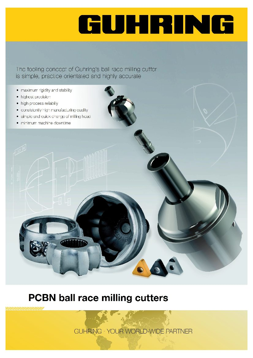 PCBN ball track mills